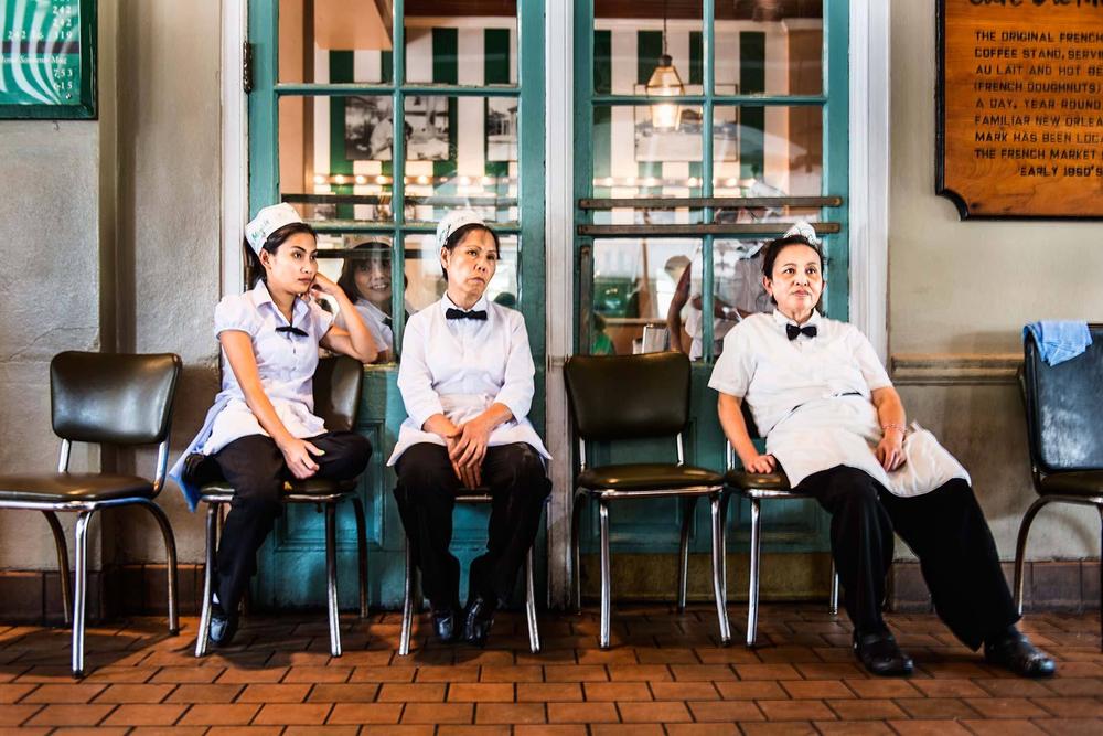 Waitresses, Cafe du Monde, New Orleans.
