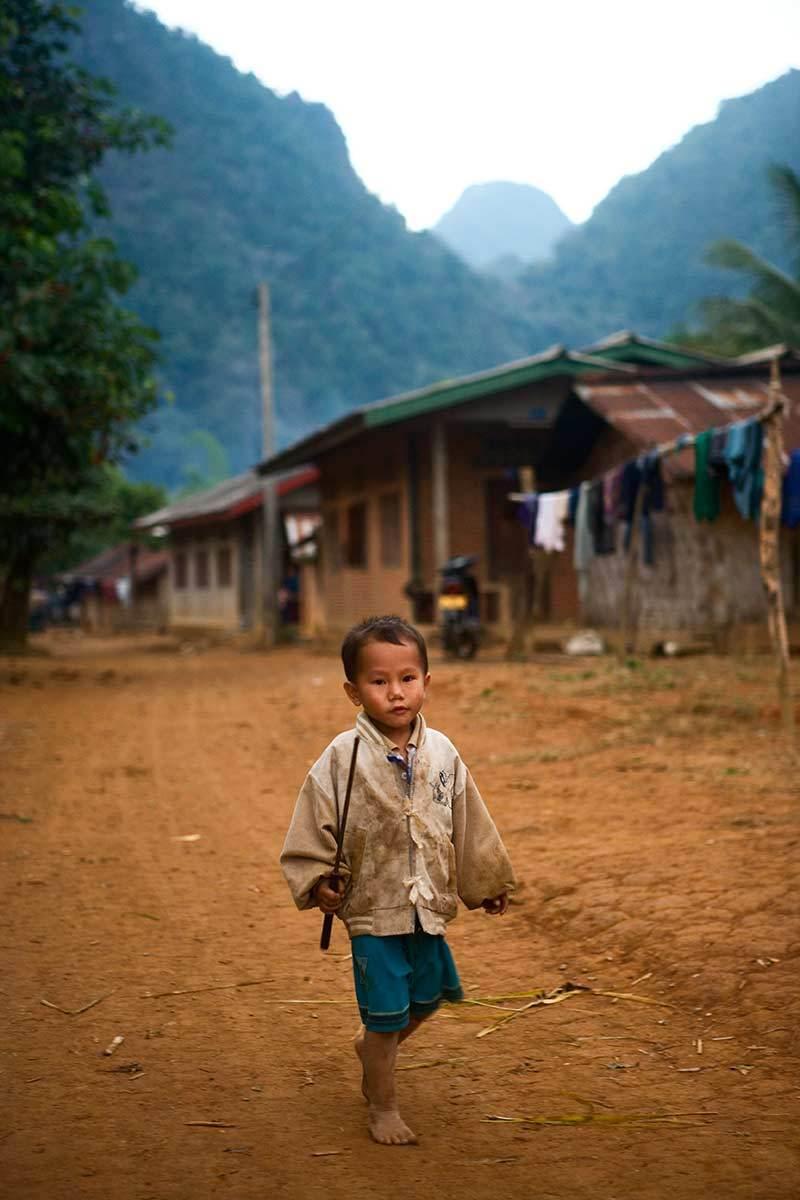 Boy, Van Vien, Laos.