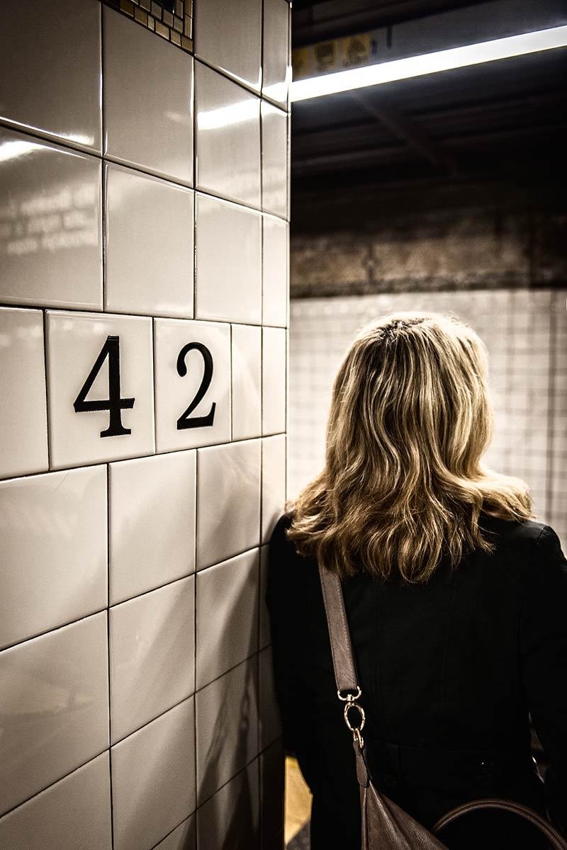 42nd Street subway stop, New York.
