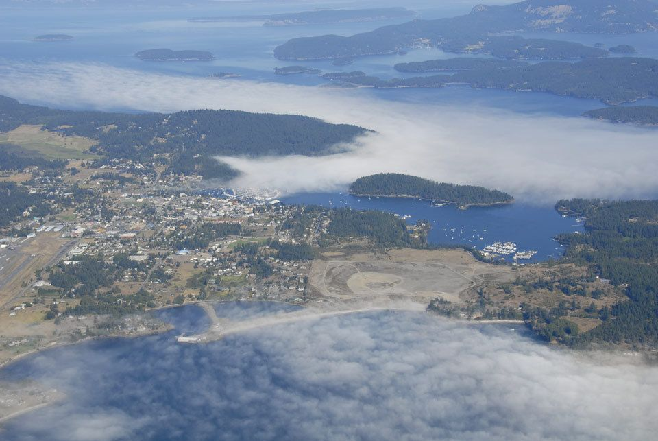 Over Friday Harbor w/ Fog