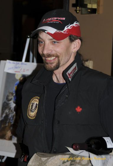 Lance Mackey after mushers meeting before 2009 race inwhich he won