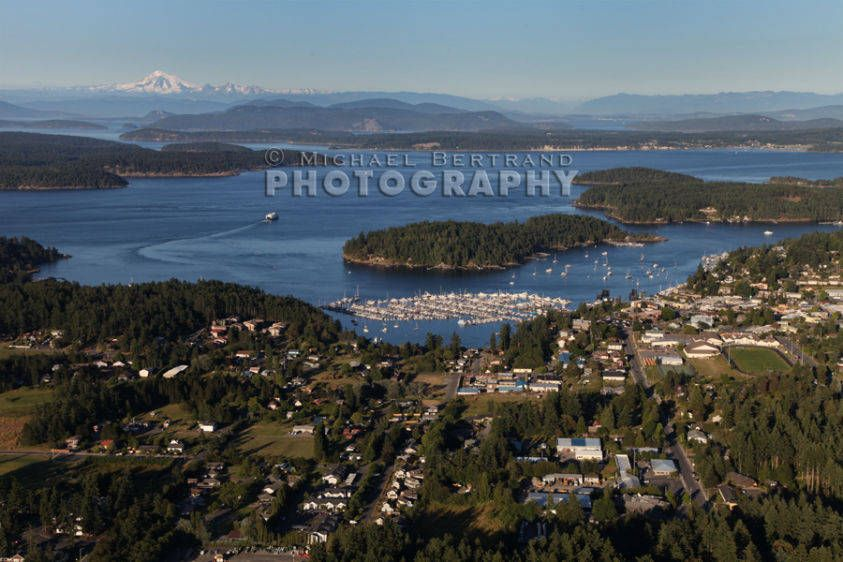 Over Friday Harbor July 3, 2013