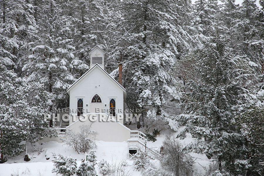 Roche Harbor Chapel Snow