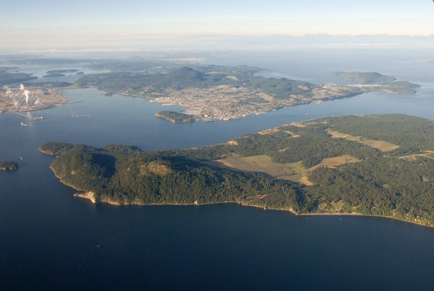 Over Guemes Is & Anacortes