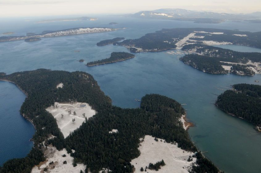 Over Roche Harbor & Henry Island Winter - 540112-08