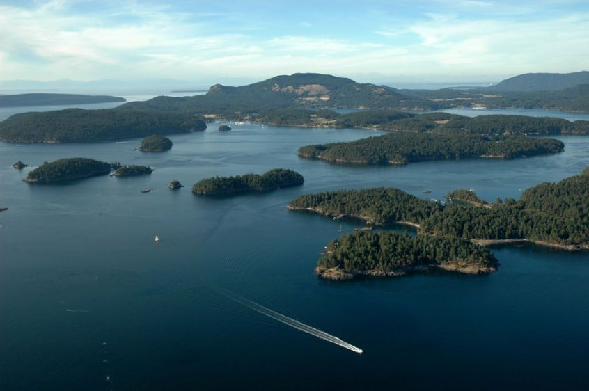 Over Wasp Islands & Orcas