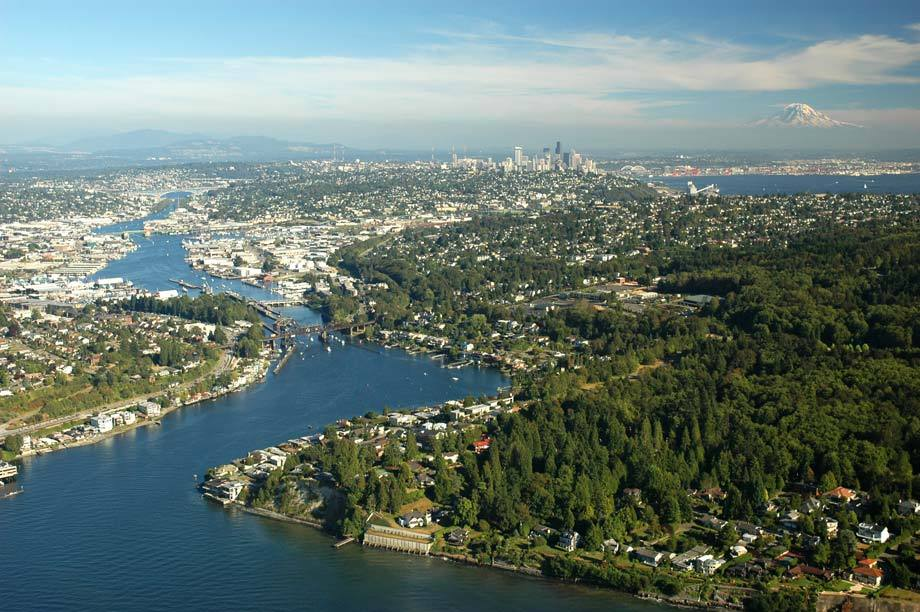 Over Seattle & the Ship Canal