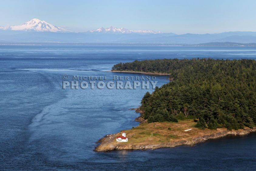 Over Patos Island & Mt. Baker