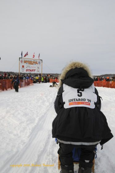 Rick Larsen at the start of this years race