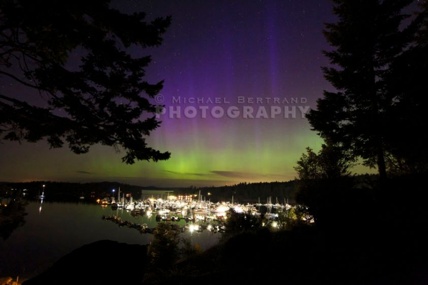Northern Lights Over Roche Harbor 2015
