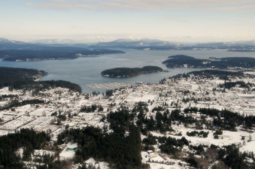 Over Friday Harbor Snow - 5465