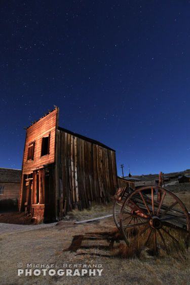 Leaning House/Cart Night Bodie
