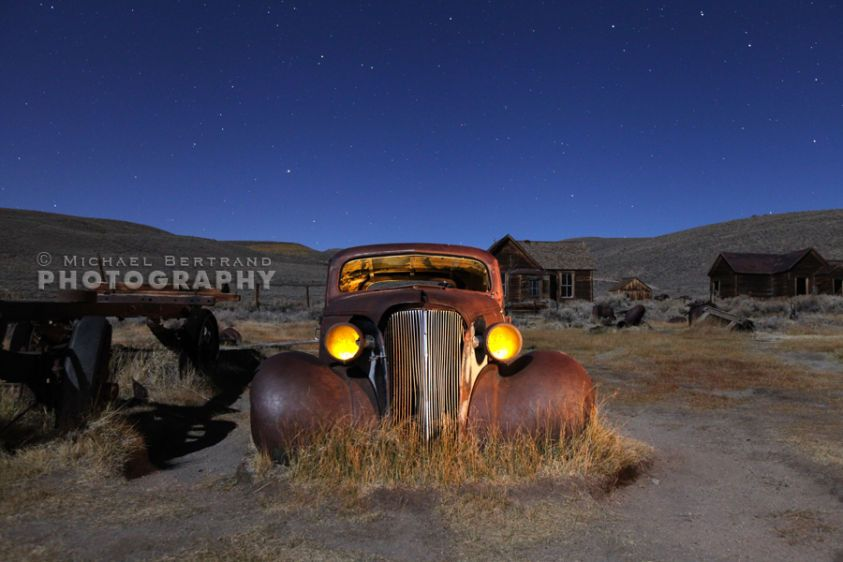 Bodie Car at Night
