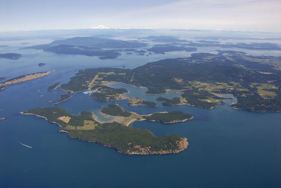 Over Roche Harbor & the San Juan Islands