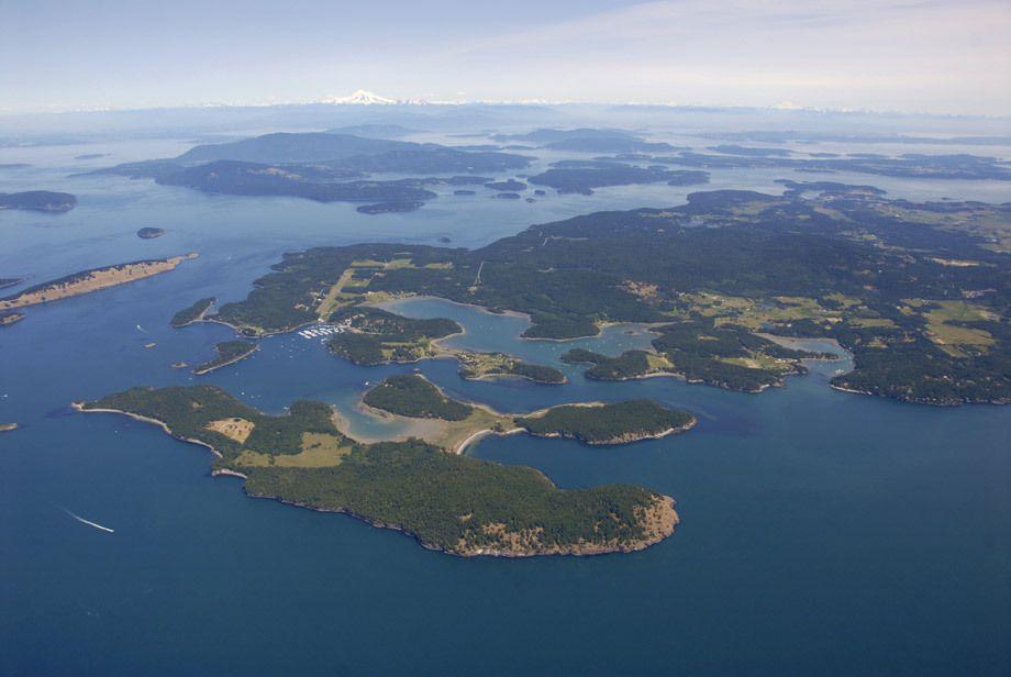 Over Roche Harbor & the San Juan Islands