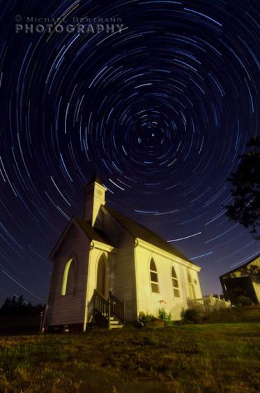 Vineyard Chapel w/ Star Trails