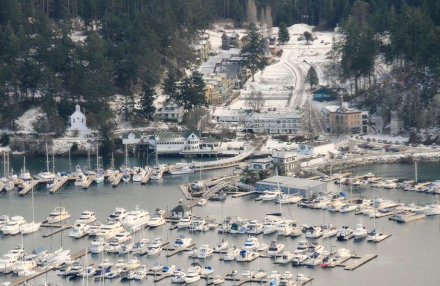 Over Roche Harbor Winter - 5433 12-08