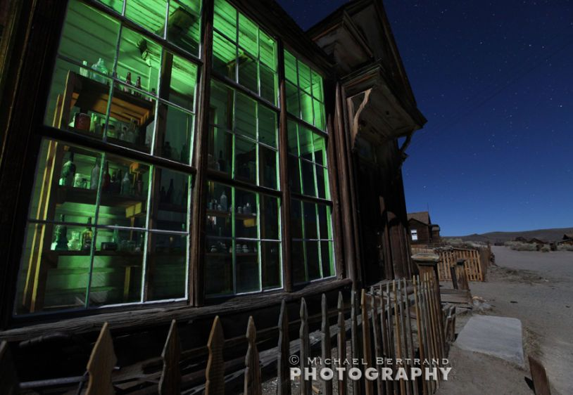 Glass Storefront Night Bodie