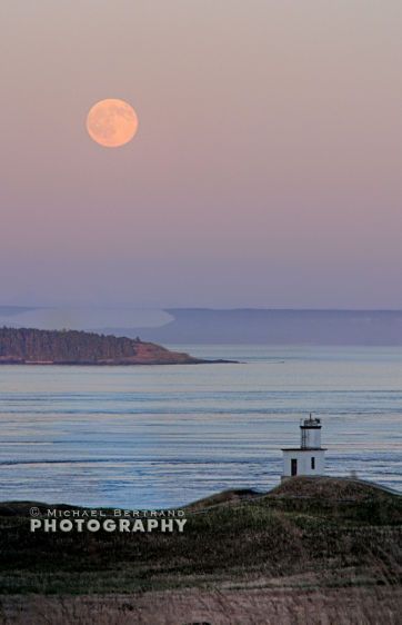 Full Moon at Cattlepoint Lighthouse