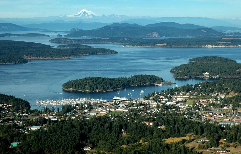 Over Friday Harbor