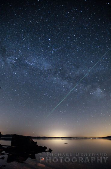 Meteor over San Juan Islands