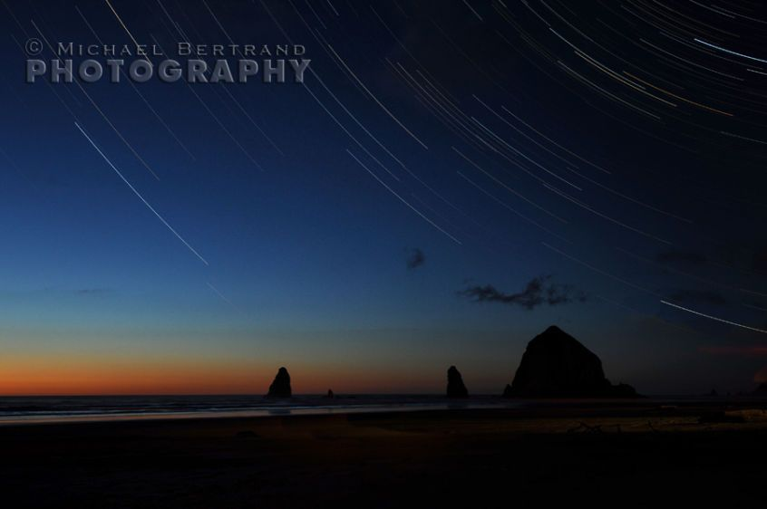 Cannon Beach Star Trails