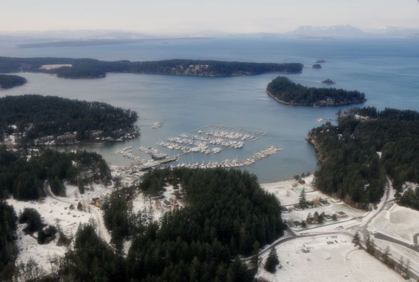 Over Roche Harbor Winter - 542212-08