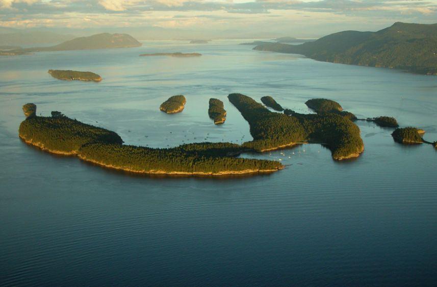 Over Sucia Island