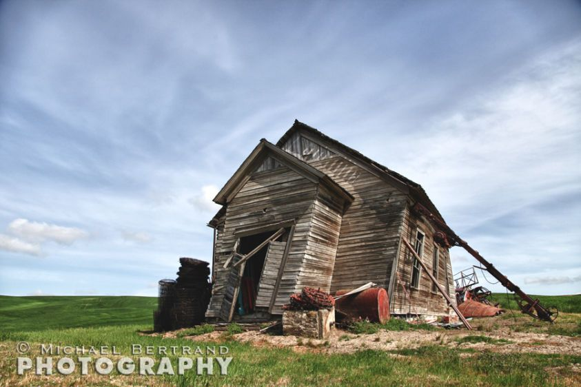Leaning School House