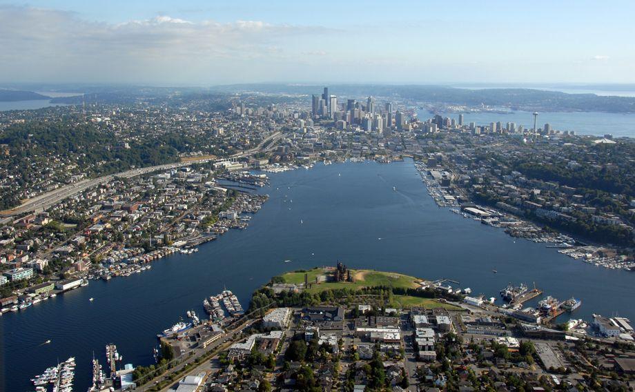 Over Lake Union & Seattle