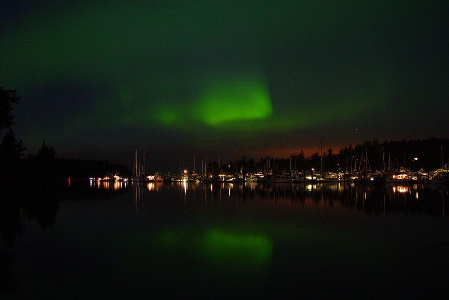 Northern Lights Over Roche Harbor