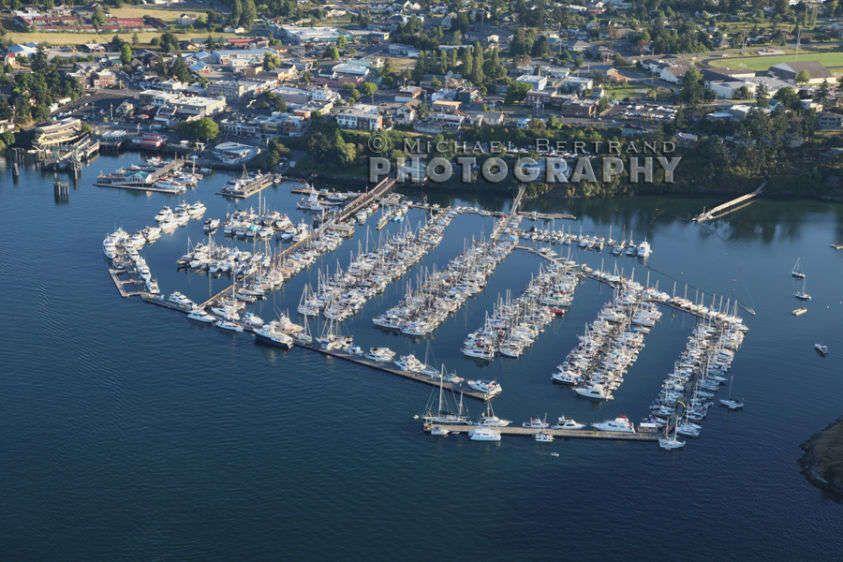 Over Friday Harbor Marina