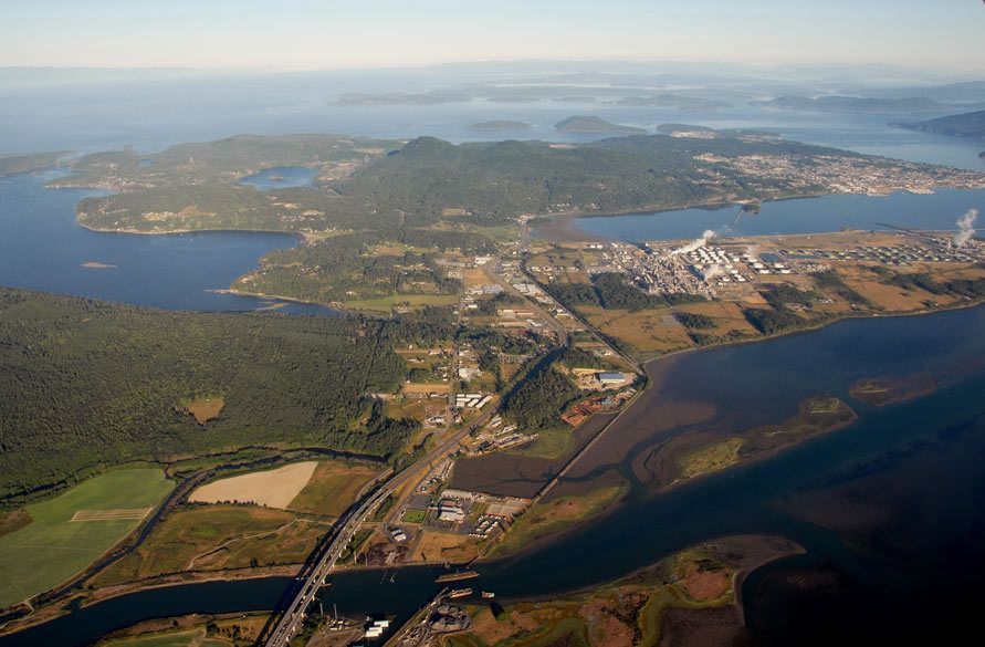 Over Fidalgo Island Looking West