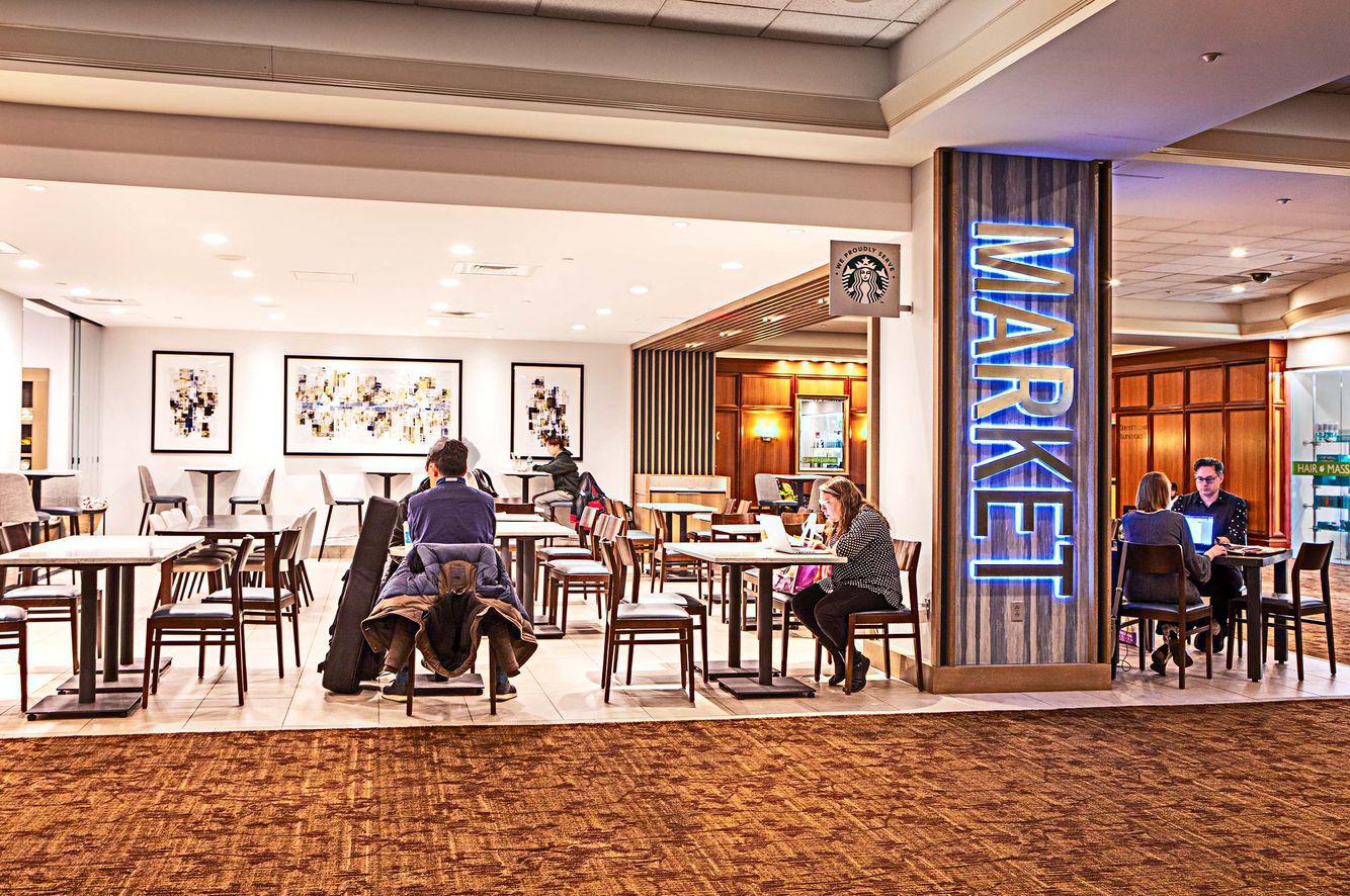 Lobby at the Boston Marriott Copley Hotel