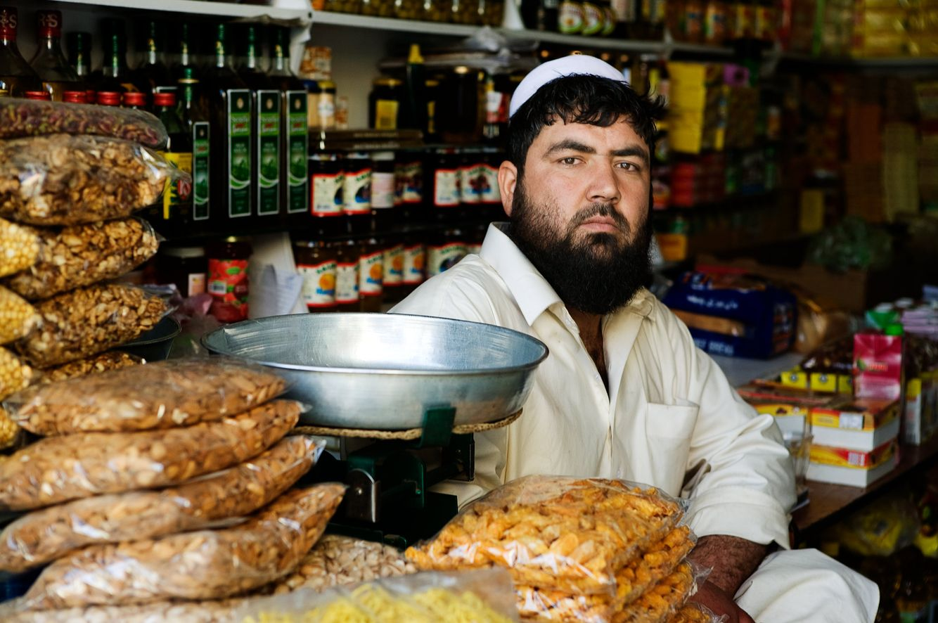 Portrait of a Grocer in Kabul