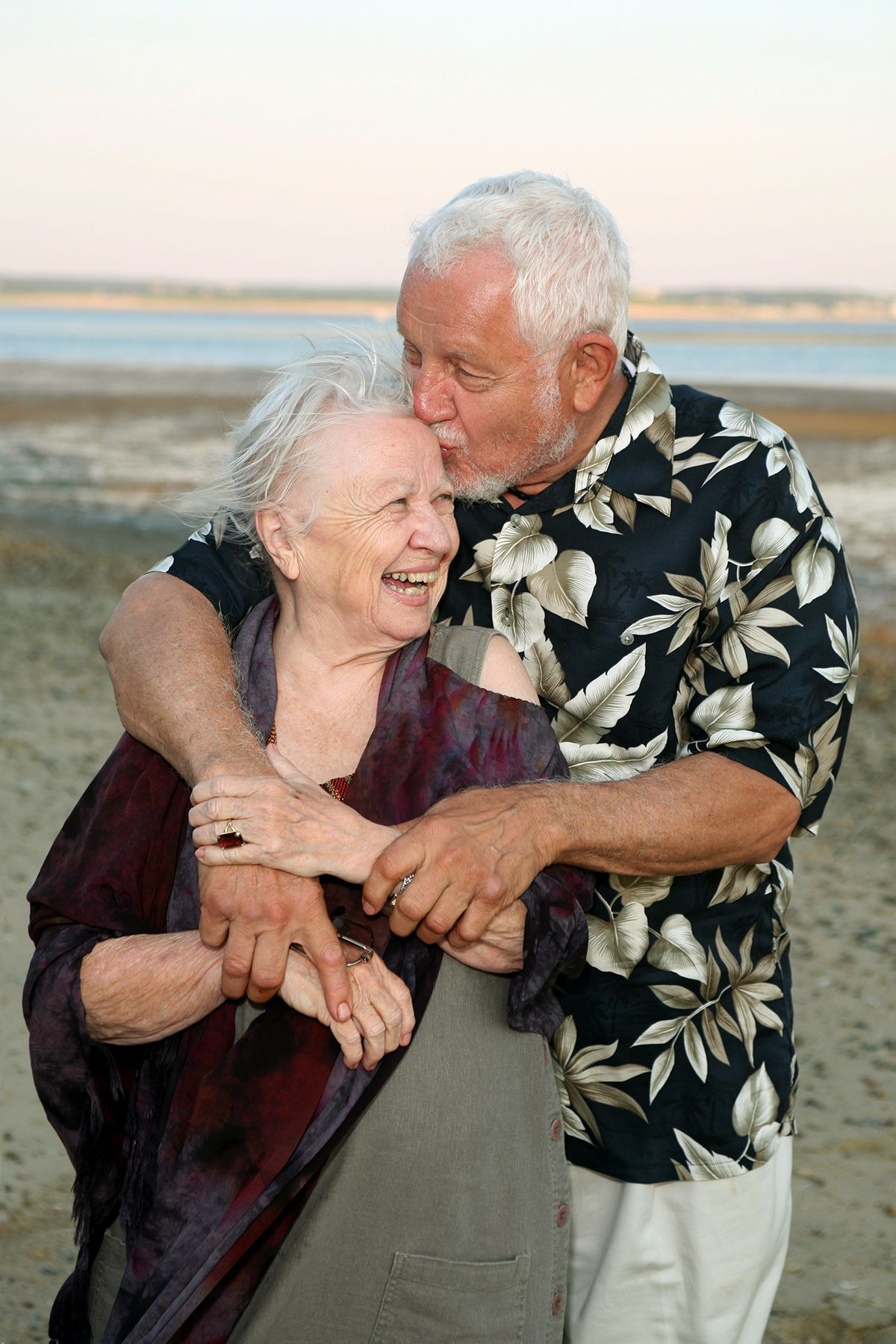 Older Couple Beach Photo