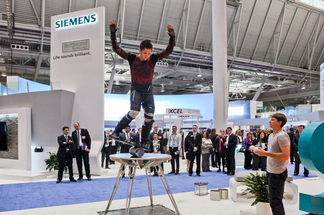 Siemens Booth at the Trade Show