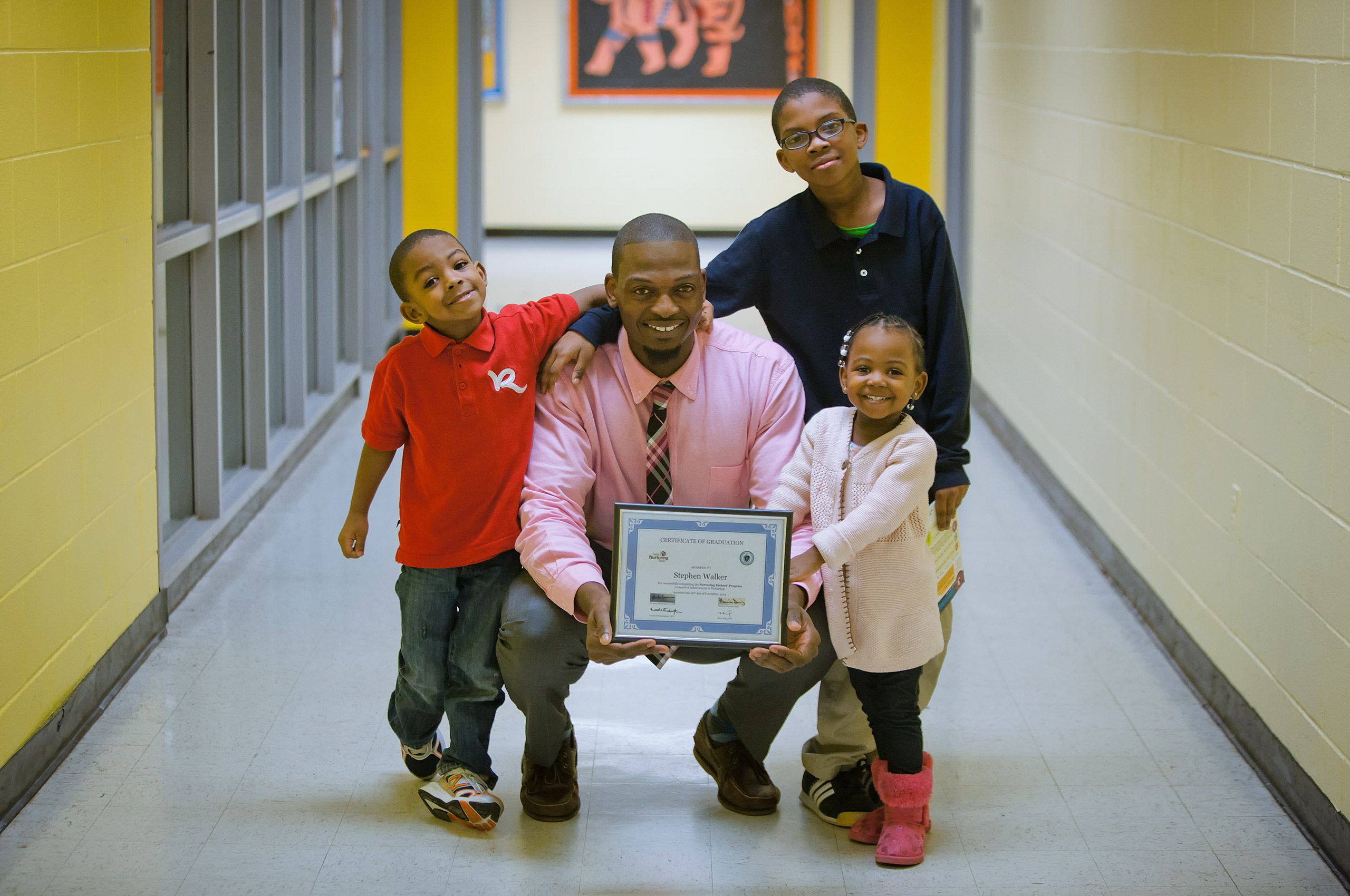 Father of Three is Receiving an Award