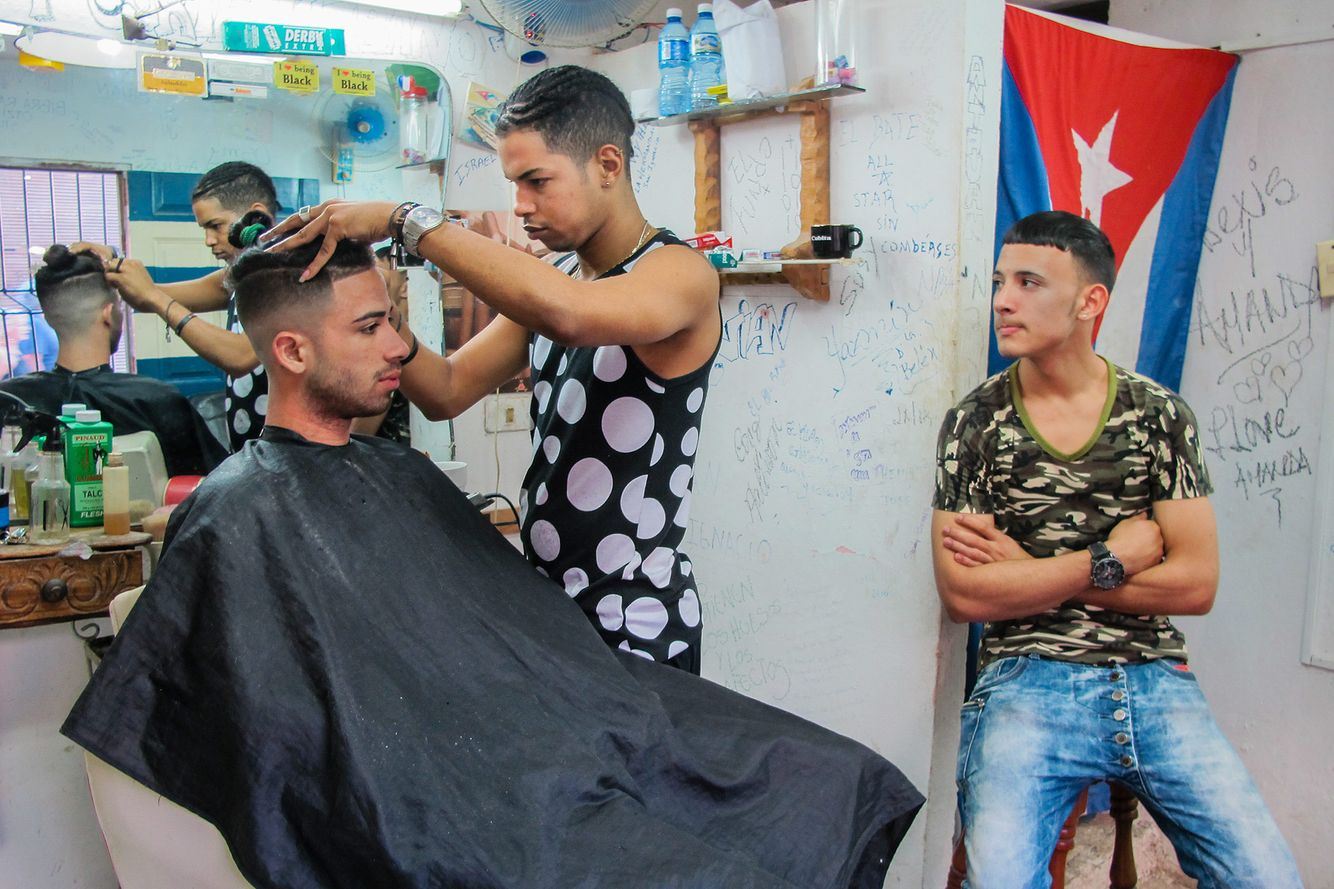 Barber Shop in Havana, Cuba