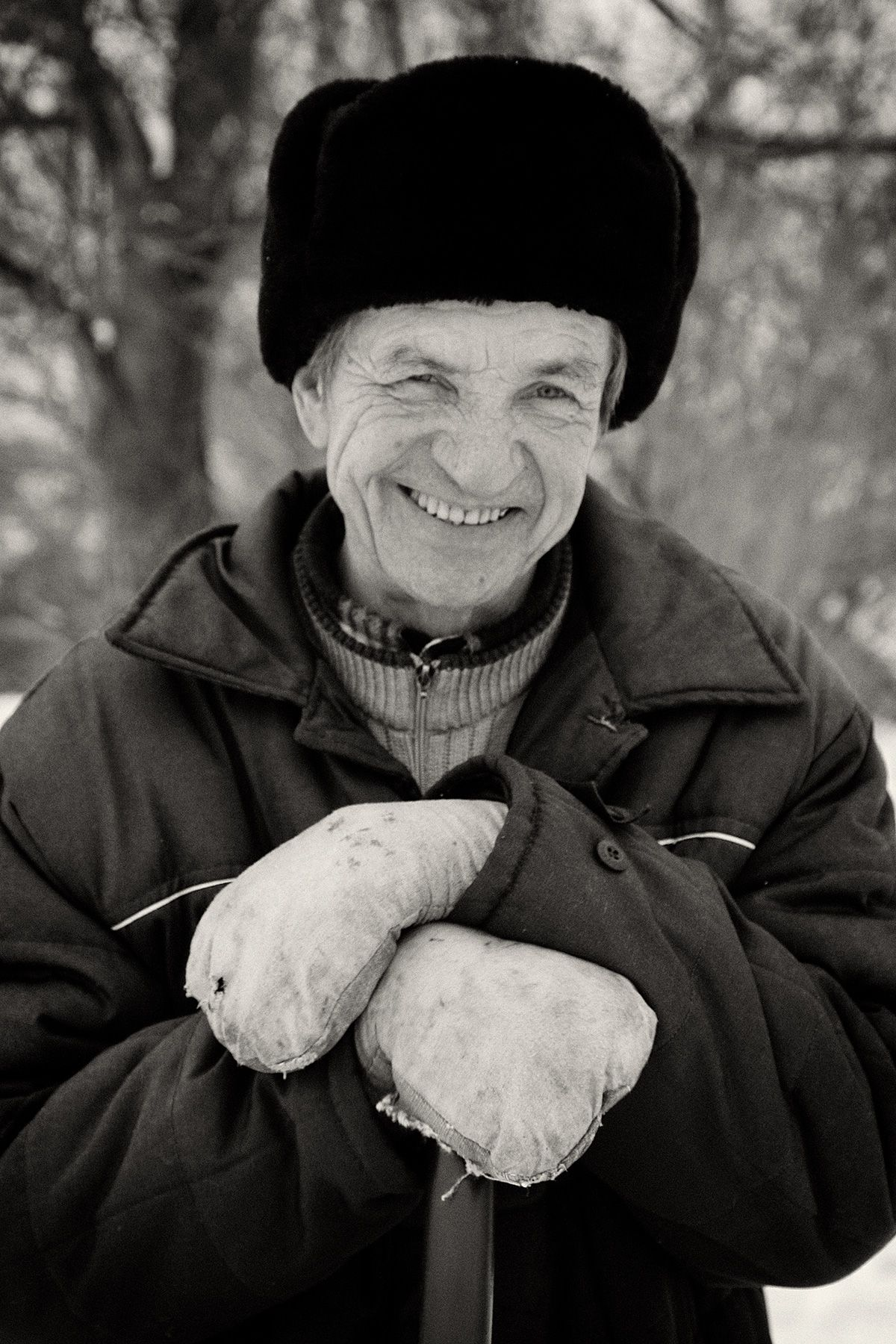 Russian Man in Village