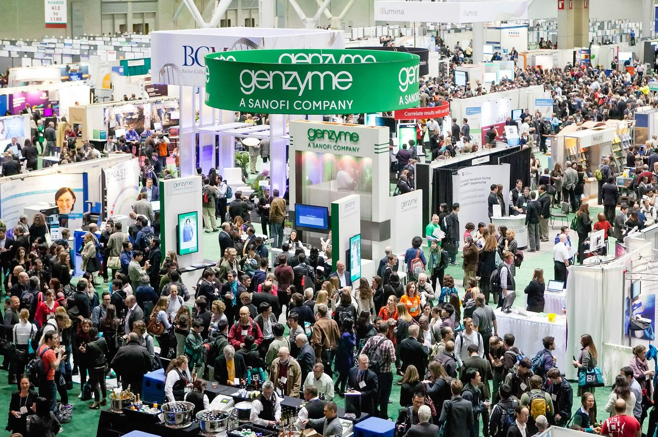 Genzyme Booth at the Exhibit Floor of the Conference.