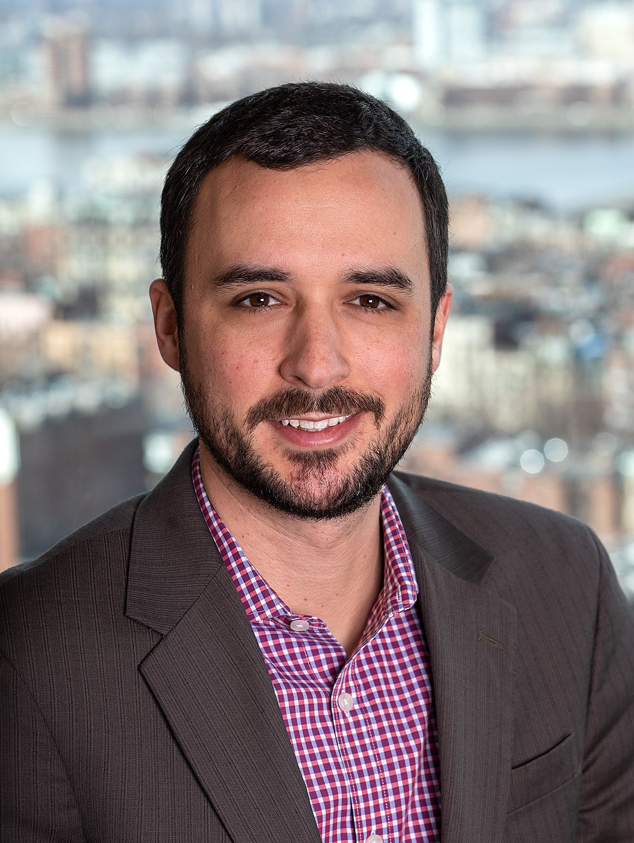 Corporate Headshot with Cityscape of Boston