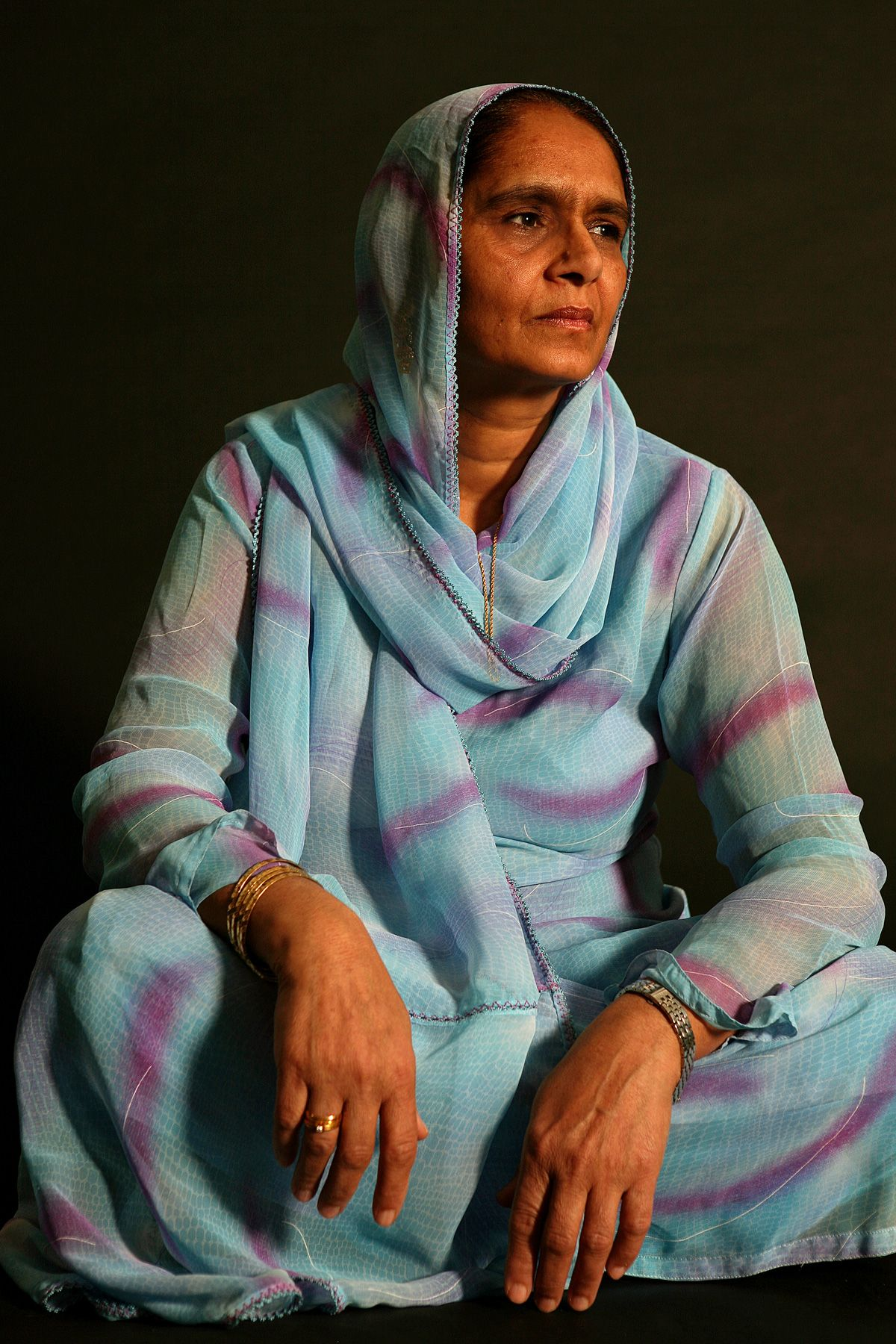 Studio portrait of Pakistani woman