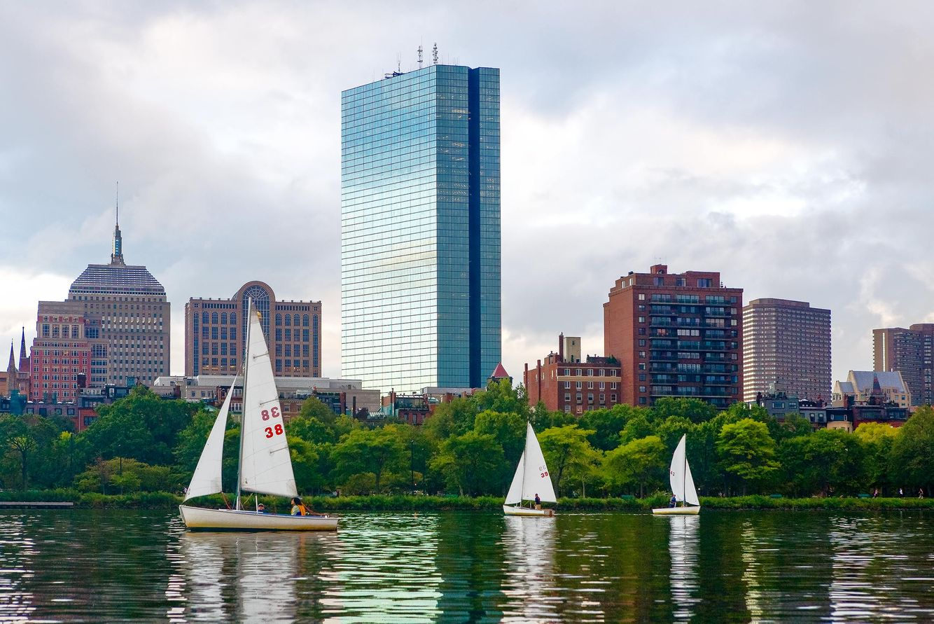 View of the Charles River, Boston Skyline and Prudential Center