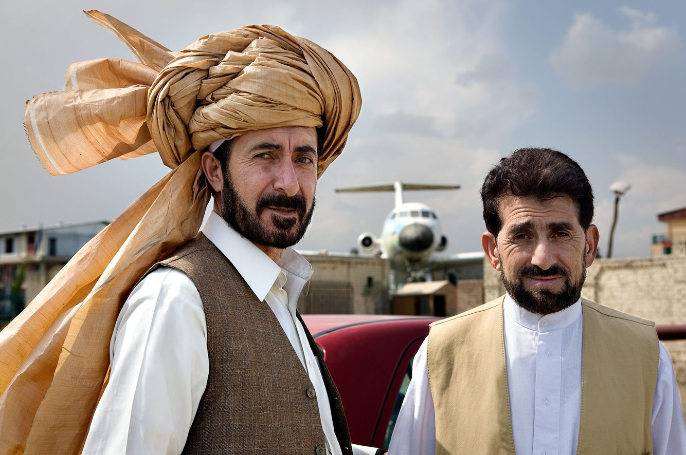 Double Portrait: Two Men in Kabul, Afghanistan