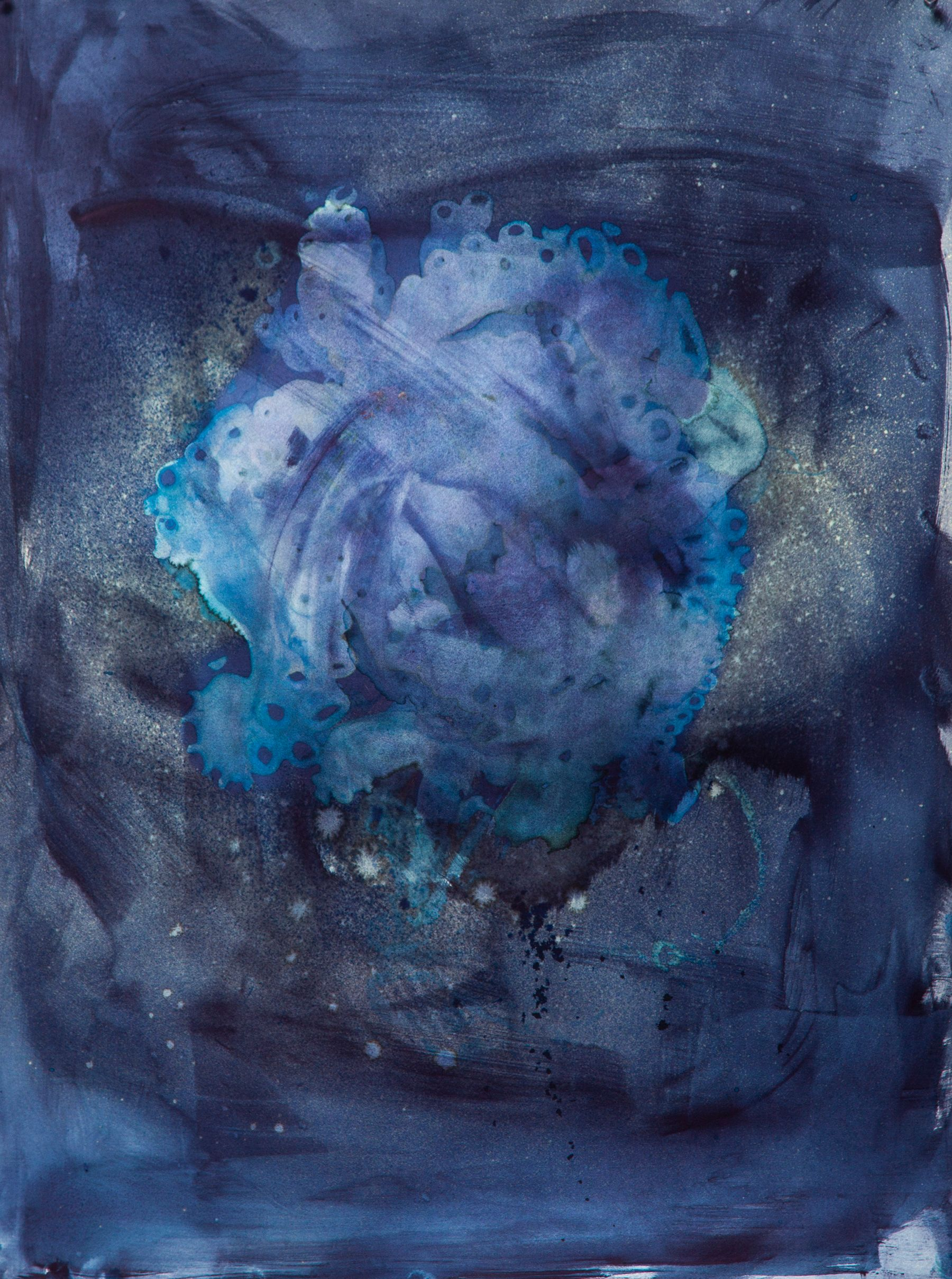 Cyanotypes IV - mixed media