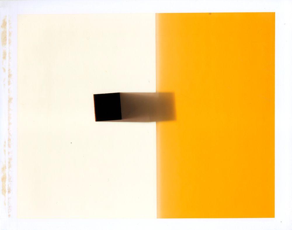 square shadow, yellow