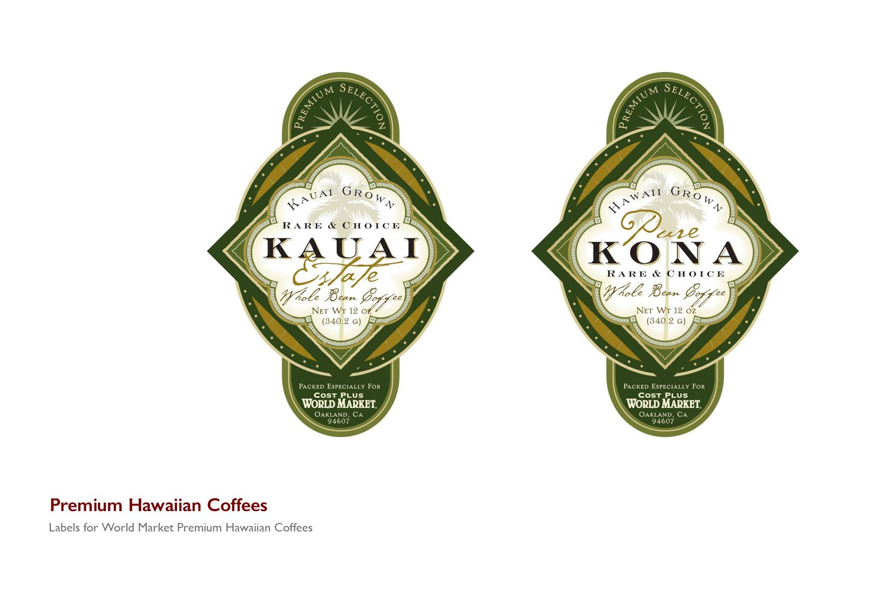 Premium Coffee Labels