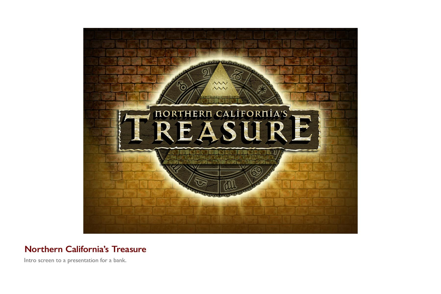 Northern California Treasure Intro Screen