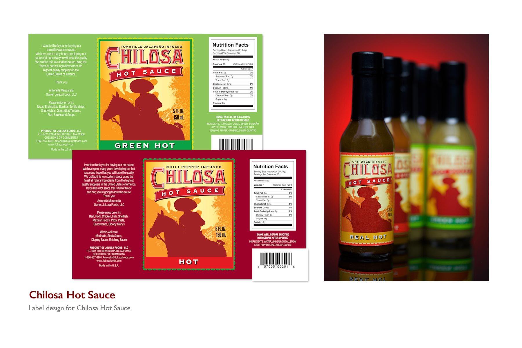 Chilosa Hot Sauce Label